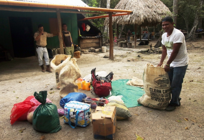 Packing gear for the mules (Tintal)