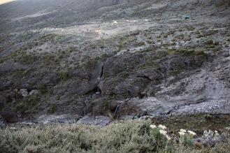Barranco Camp viewed from Barranco Wall Summit