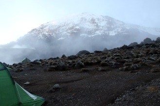 Camping In the clouds under the Snows of Kilimanjaro