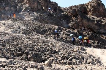 The climb to Barafu Ridge