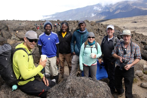 John, Nelson & Ibrahim (Ass't Guides), Kefas (Head Guide), Louise, Troy, & Jeff