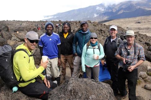 John, Nelson & Ibrahim (Ass't Guides), Kefas (Head Guide), Louise, Troy, & Jeff