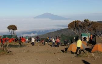 Mt Meru from Shira Cave Camp