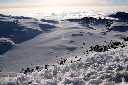 Snow melts into cloud, Kilimanjaro, Tanzania_Reid Allin