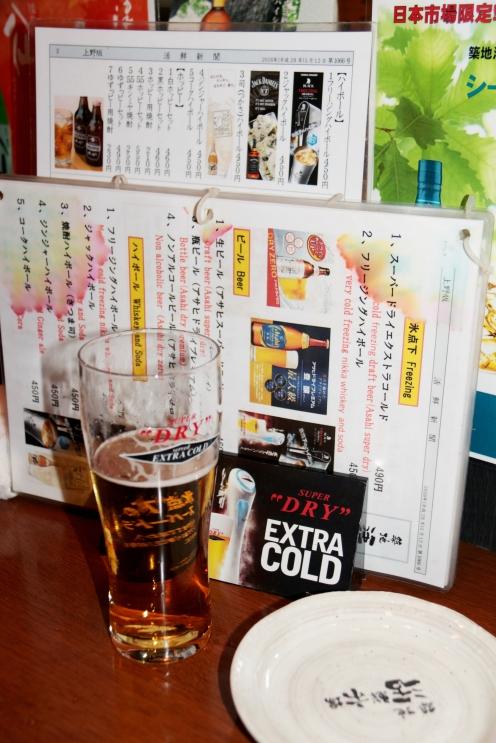 Menu & beer.lr