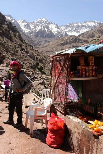 Hussein at the fresh-squeezed OJ stand_Toubkal, Morocco_Reid Allin