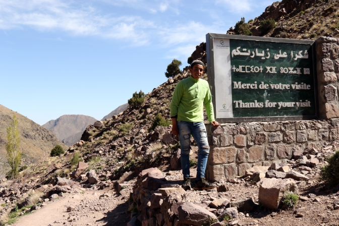 Muleteer Ayoub and the TNP sign