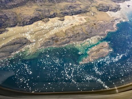 "Icebergs and ""bergie bits,"" Iqaluit Harbor"