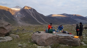 Supper on the granite countertop, June Valley