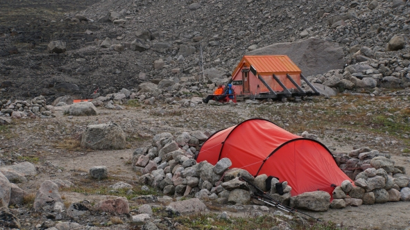 Campsites and shelter, Summit Lake
