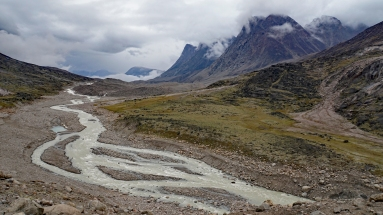 Braided stream of the Weasel River