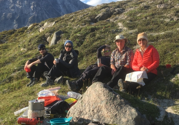 Jim & Tegan, Leslie, Jeff & Lola - photo by Peter_Day 4_Asgard Camp.lra