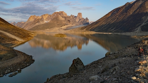 Glacier Lake with Mount Asgard