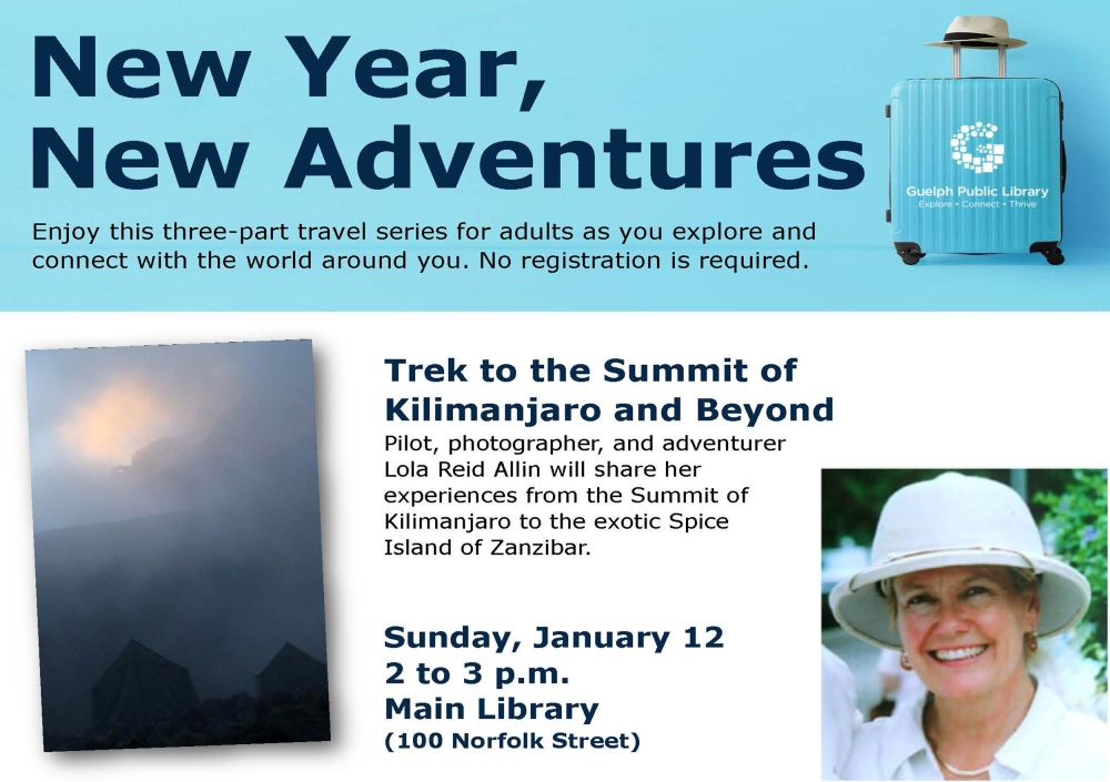 New Year=New Adventures, Guelph Public Library -January12,2020